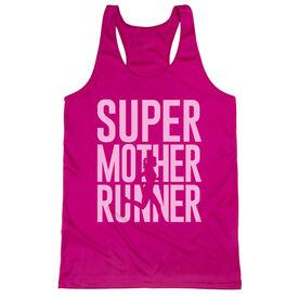 Women's Racerback Performance Tank Top - Super Mother Runner