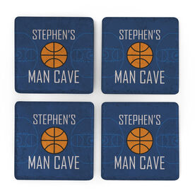 Basketball Stone Coasters Set of Four - Man Cave