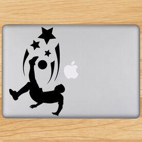 Spirit Soccer Guy Removable ChalkTalkGraphix Laptop Decal