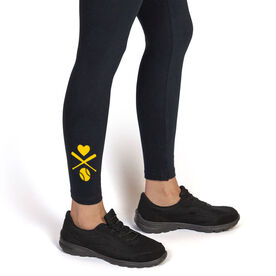 Softball Leggings - Crossed Softball Bats