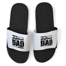 Softball White Slide Sandals - Softball Dad