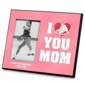 Figure Skating Photo Frame I Heart You Mom Skate