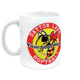 Softball Coffee Mug Custom Logo