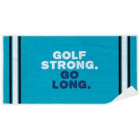 Golf Premium Beach Towel - Strong. Go Long.