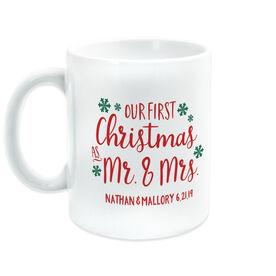 Personalized Coffee Mug - Our First Christmas As Mr. & Mrs.