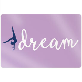 "Gymnastics 18"" X 12"" Aluminum Room Sign - Dream"