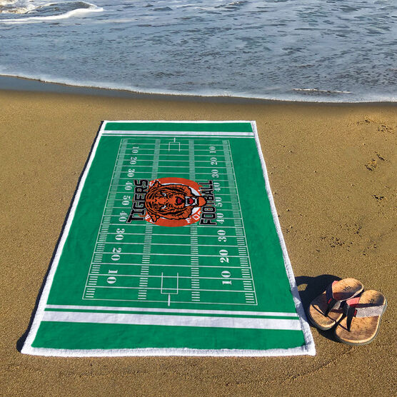 Football Premium Beach Towel - Personalized Your Logo Here