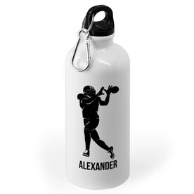 Football 20 oz. Stainless Steel Water Bottle - Football Wide Receiver Silhouette