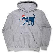 Hockey Hooded Sweatshirt - Christmas Dog