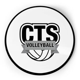 Volleyball Circle Plaque - Custom Logo