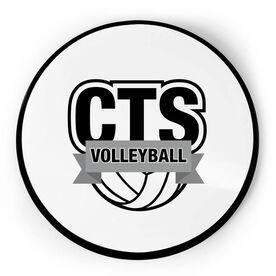 Volleyball Circle Plaque - Custom Logo