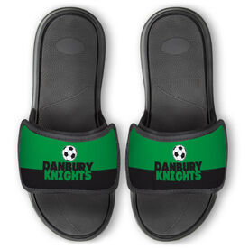 Soccer Repwell® Slide Sandals - Team Name Colorblock