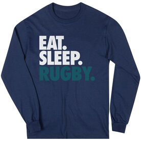 Rugby T-Shirt Long Sleeve Eat. Sleep. Rugby.