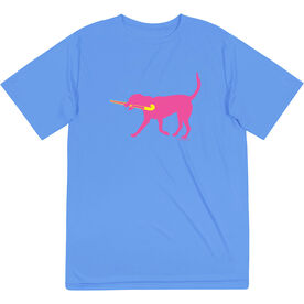 Field Hockey Short Sleeve Performance Tee - Fetch the Field Hockey Dog
