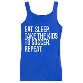 Soccer Women's Athletic Tank Top - Eat Sleep Take The Kids To Soccer