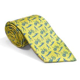 Triathlete Yellow Silk Tie