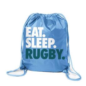 Rugby Sport Pack Cinch Sack Eat. Sleep. Rugby.