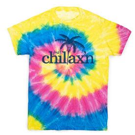 Lacrosse Short Sleeve T-Shirt - Just Chillax'n Tie Dye