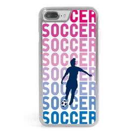 Soccer iPhone® Case - Soccer Fade Girl