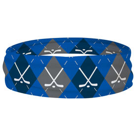 Hockey Multifunctional Headwear - Hockey Sticks Argyle Pattern RokBAND