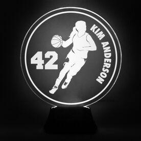 Basketball Acrylic LED Lamp B-ball Girl With Name and Number