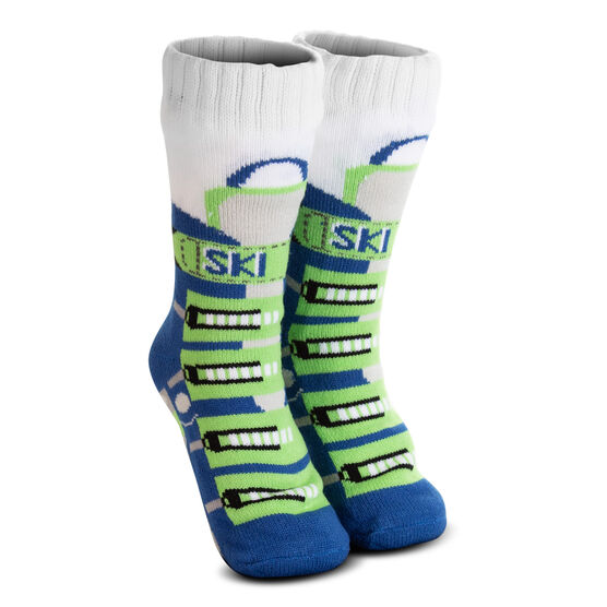 Ski Boot Slipper Socks with Sherpa Lining