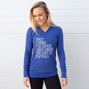 Softball Lightweight Performance Hoodie - Then I Drive The Kids To Softball