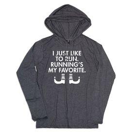 Women's Running Lightweight Hoodie - Running's My Favorite (Simple)