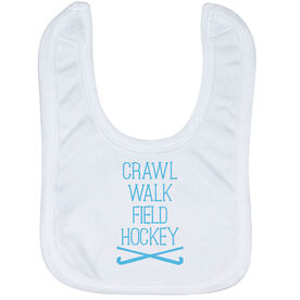 Field Hockey Baby Bib - Crawl Walk Field Hockey