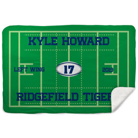 Rugby Sherpa Fleece Blanket - Personalized Rugby Team