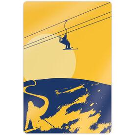 "Skiing 18"" X 12"" Aluminum Room Sign - Endless Skiing"