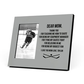 Hockey Photo Frame - Dear Mom Thank You