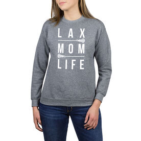 Girls Lacrosse Crew Neck Sweatshirt - LAX Mom Life