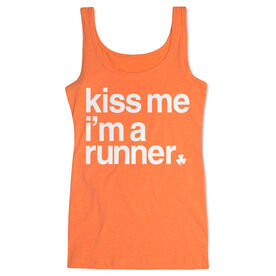 Running Women's Athletic Tank Top - Kiss Me I am a Runner Saying