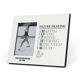 Figure Skating Photo Frame - Mother Words