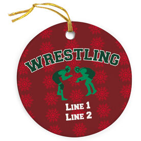 Wrestling Porcelain Ornament With Wrestlers