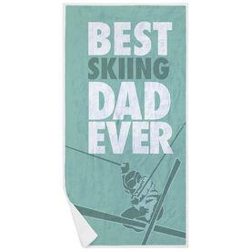 Skiing Premium Beach Towel - Best Dad Ever
