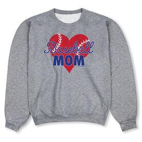 Baseball Crew Neck Sweatshirt - Baseball Mom