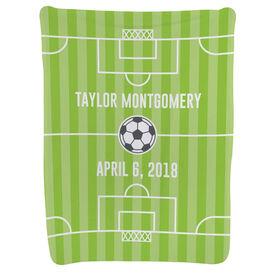 Soccer Baby Blanket - Field