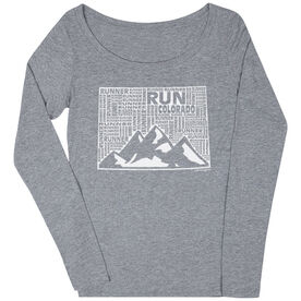Women's Scoop Neck Long Sleeve Runners Tee Colorado State Runner
