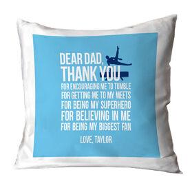 Gymnastics Male Throw Pillow Dear Dad