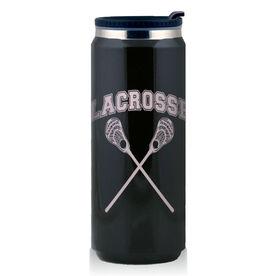 Stainless Steel Travel Mug Lacrosse Guys Crossed Sticks