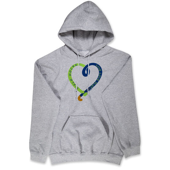 Field Hockey Hooded Sweatshirt - Live Love Play Field Hockey