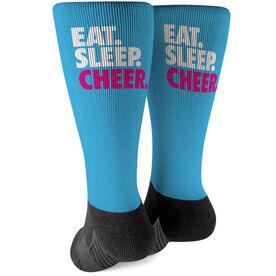 Cheerleading Printed Mid-Calf Socks - Eat Sleep Cheer