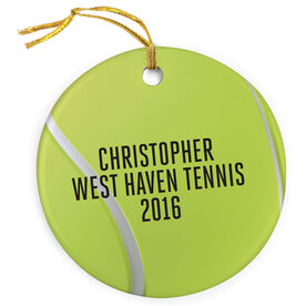 Tennis Porcelain Ornament Personalized Tennis Ball