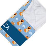 Personalized Baby Blanket - Fox Pattern