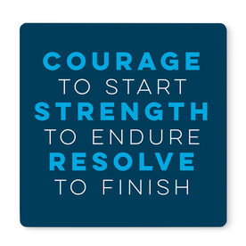 """Running 12"""" X 12"""" Removable Wall Tile - Courage to Start"""