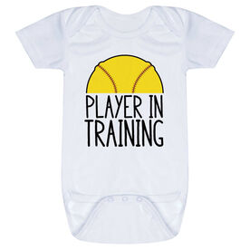 Softball Baby One-Piece - Player In Training