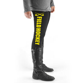 Field Hockey High Print Leggings Field Hockey With Sticks