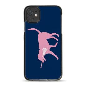 Girls Lacrosse iPhone® Case - LuLa the Lax Dog